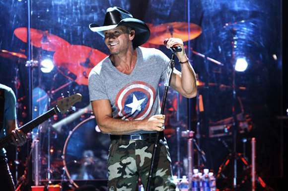 Tim McGraw, Billy Currington & Chase Bryant at Blossom Music Center