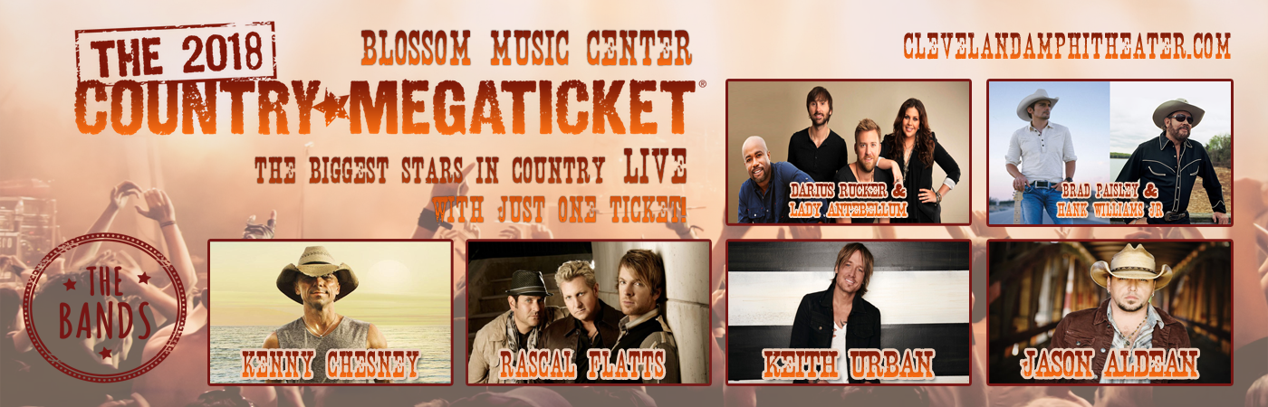 2018 Country Megaticket at Blossom Music Center