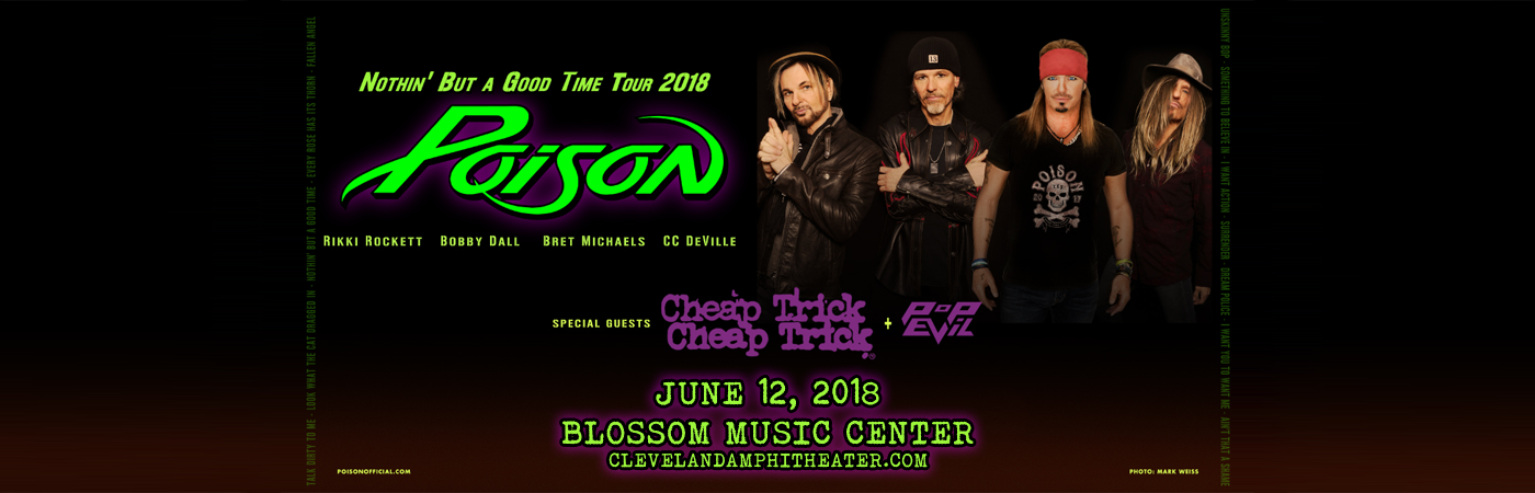 Poison & Cheap Trick at Blossom Music Center