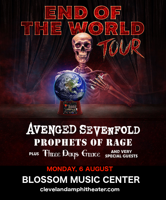 End of the World Tour: Avenged Sevenfold, Prophets of Rage & Three Days Grace at Blossom Music Center