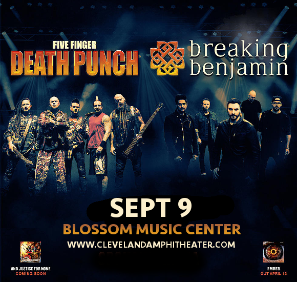 Five Finger Death Punch & Breaking Benjamin at Blossom Music Center
