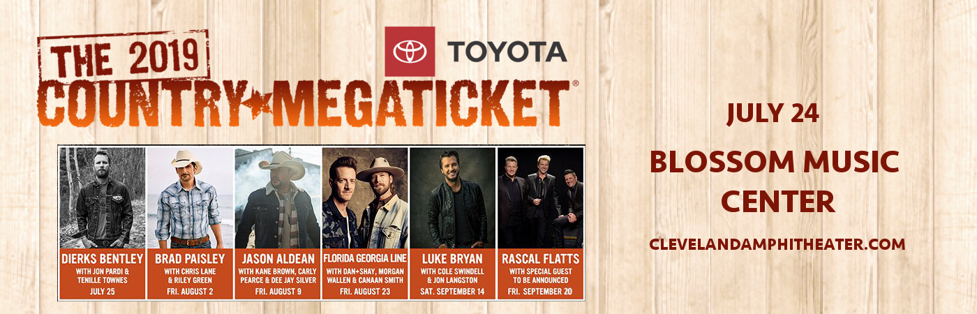 2019 Country Megaticket Tickets (Includes All Performances) at Blossom Music Center