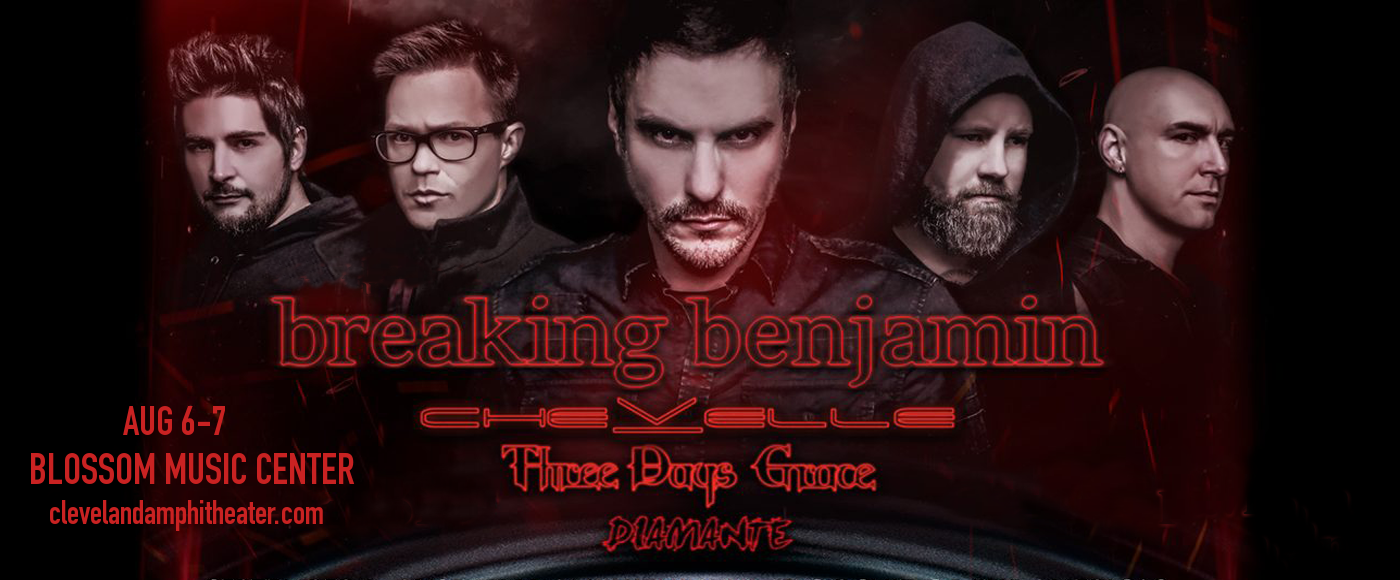 Breaking Benjamin, Chevelle & Three Days Grace at Blossom Music Center