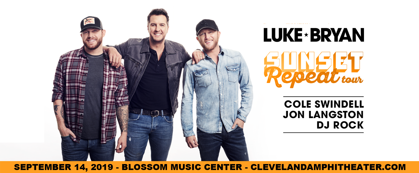 Luke Bryan, Cole Swindell & Jon Langston. at Blossom Music Center