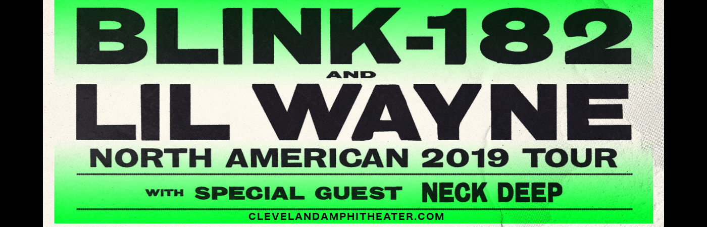 Blink 182 & Lil Wayne at Blossom Music Center