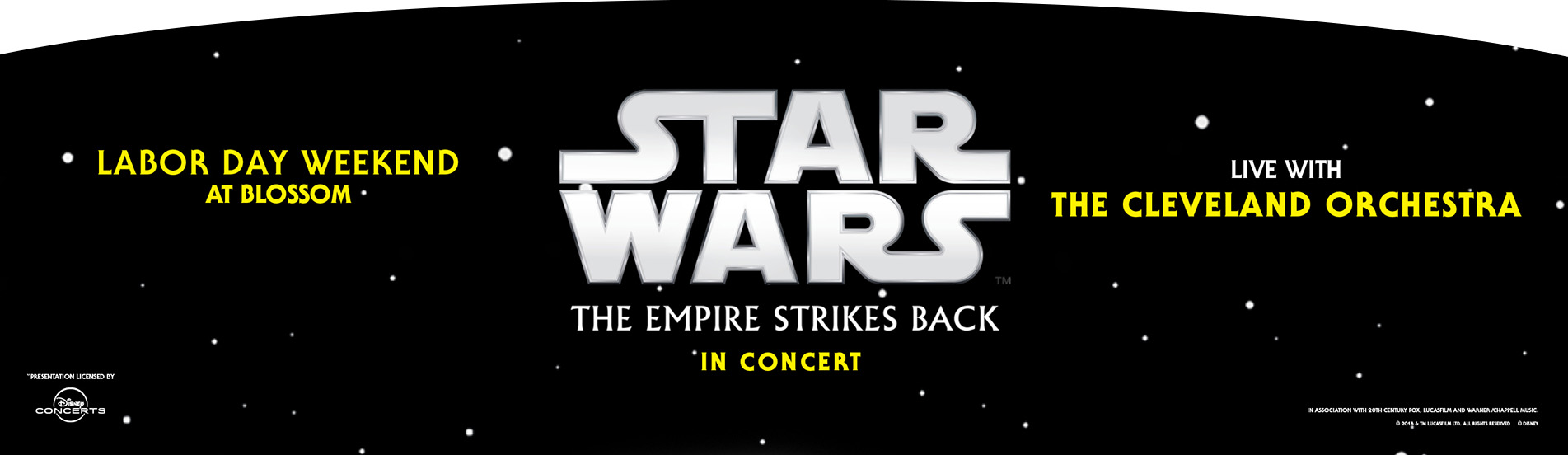 Star Wars' The Empire Strikes Back - Film With Live Orchestra at Blossom Music Center