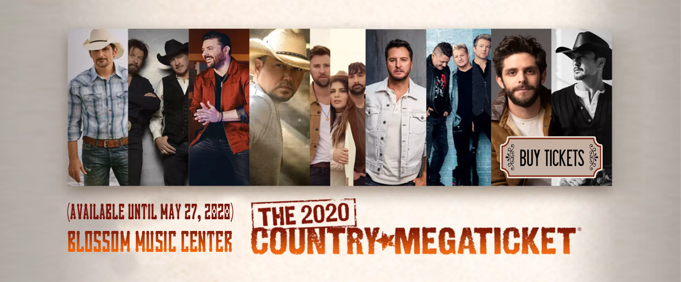 Country Megaticket (Includes Tickets To All Performances) at Blossom Music Center