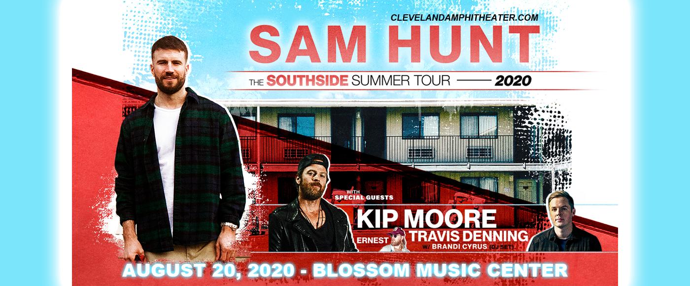 Sam Hunt, Kip Moore & Travis Denning at Blossom Music Center