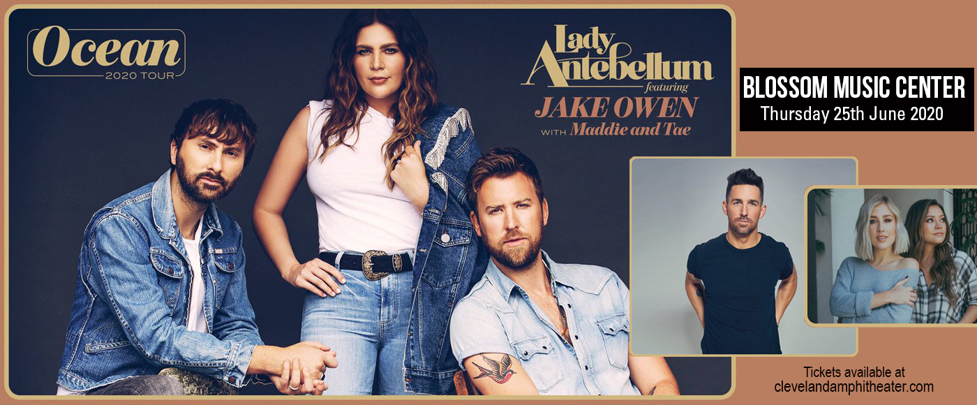 Lady Antebellum, Jake Owen & Maddie and Tae [CANCELLED] at Blossom Music Center