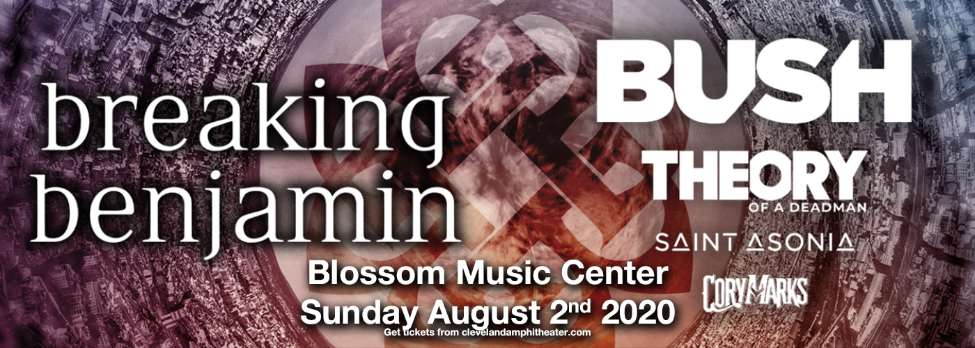 Breaking Benjamin & Bush [CANCELLED] at Blossom Music Center