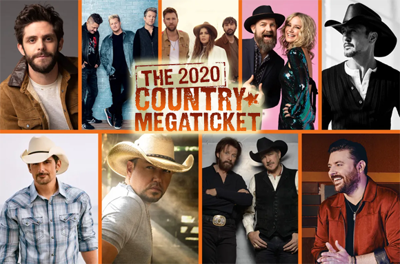Country Megaticket (Includes Tickets To All Performances) [CANCELLED] at Blossom Music Center