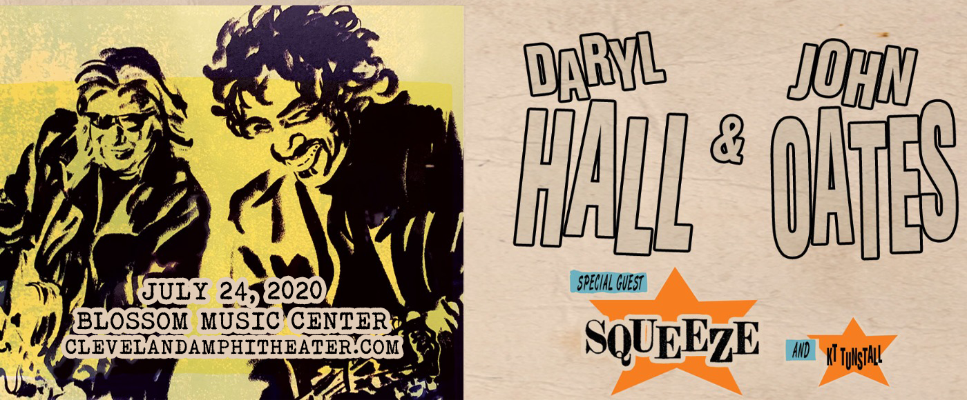 Hall and Oates, KT Tunstall & Squeeze [POSTPONED] at Blossom Music Center