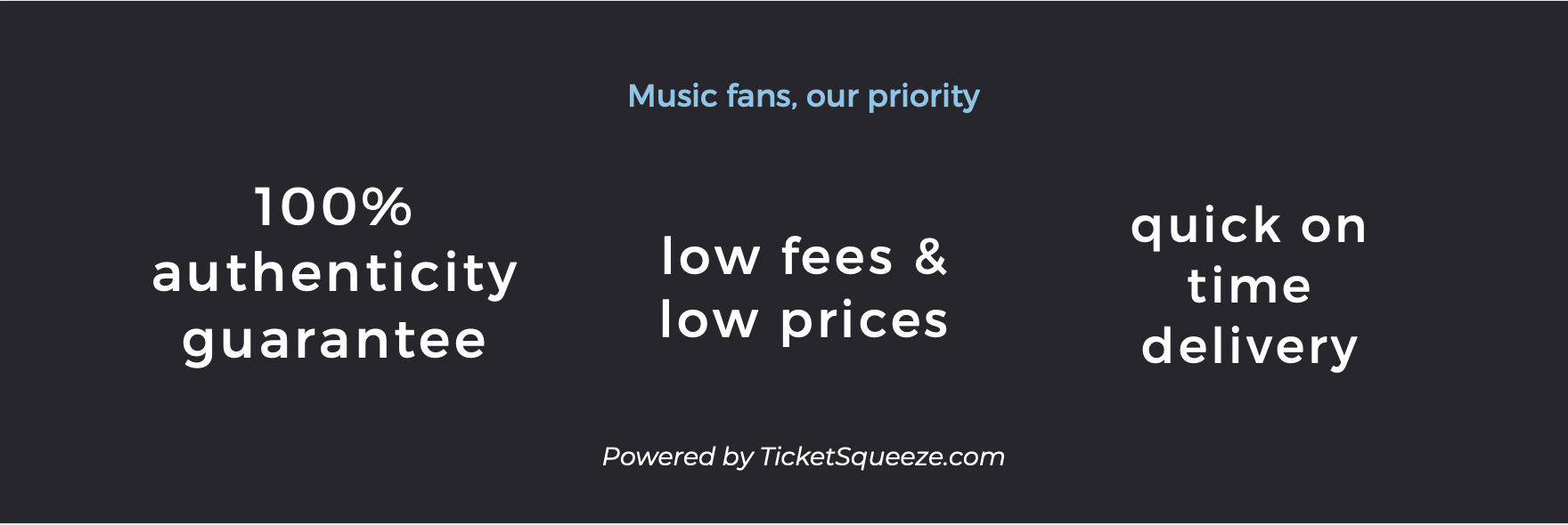 blossom music center ticket squeeze