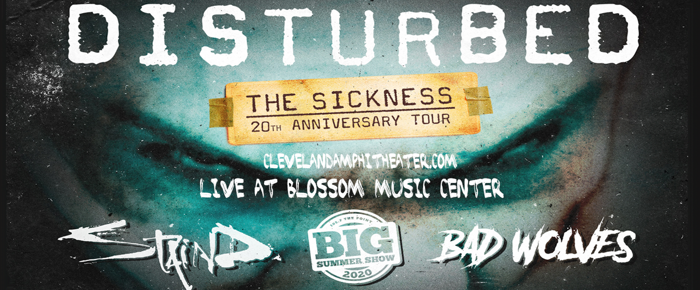 Disturbed, Staind & Bad Wolves [CANCELLED] at Blossom Music Center