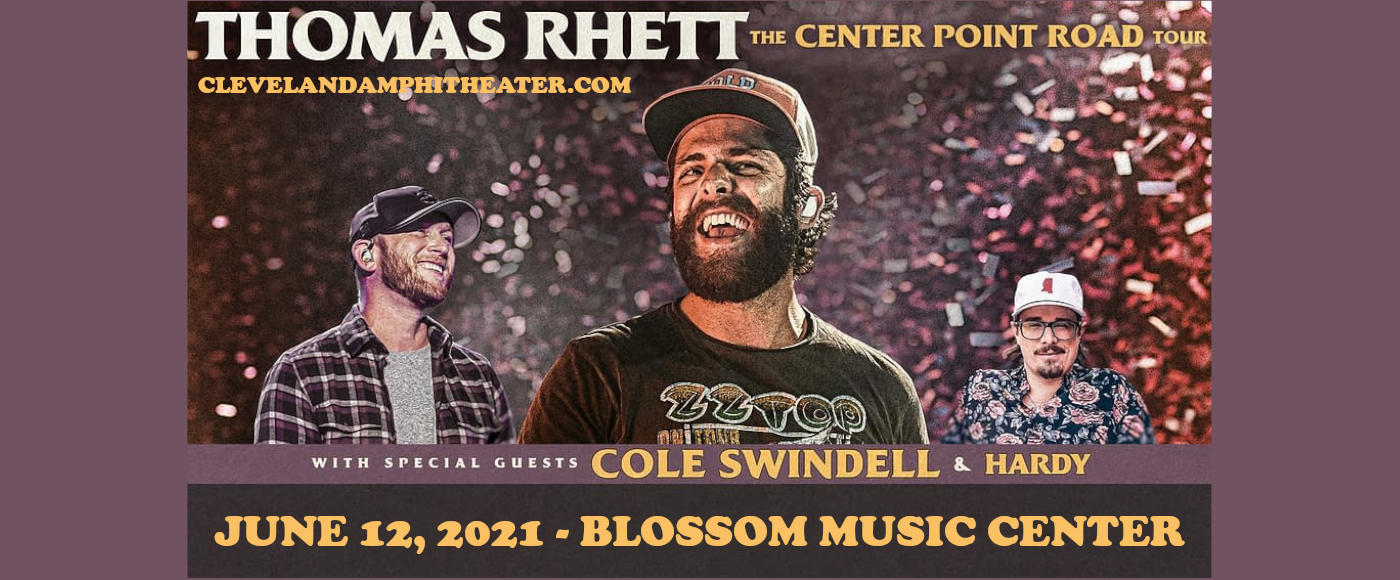 Thomas Rhett & Cole Swindell at Blossom Music Center