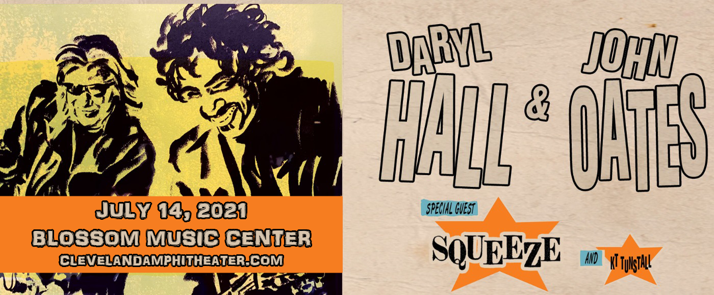 Hall and Oates, KT Tunstall & Squeeze [CANCELLED] at Blossom Music Center